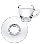 Piatto per tazza cappuccino Ischia in vetro cm 15