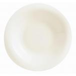 Piatto fondo Linea Tendency Arcoroc in vetro bianco avorio cm 23