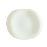 Piatto portata Linea Tendency Arcoroc in vetro bianco avorio cm 31,5x26,5
