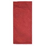 Busta portaposate in carta paglia bordeaux con tovagliolo bianco 38 x 38 cm