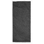 Busta portaposate in carta paglia nera con tovagliolo bianco