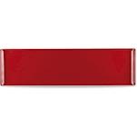 Vassoio Linea Buffet Churchill rettangolare in melamina rosso cm 56x15,3