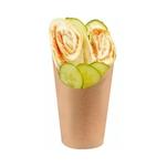 Contenitore piadina o fritti monouso in cartone marrone gr 150
