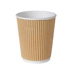 Bicchiere cappuccio monouso Triple wall Duni marrone chiaro 24 cl