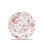 Piatto piano Vintage Rose Chintz Churchill in porcellana rosso cm 17
