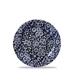 Piatto piano Linea Vintage Prints Calico Churchill in ceramica vetrificata blu cm 17