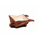 Tiki mug carriola in ceramica marrone cl 25