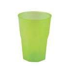 Bicchiere cocktail in polipropilene verde acido cl 35