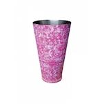 Boston tin in acciaio verniciato rosa floreale cl 84