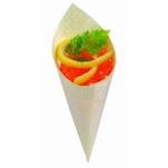 Mini coni monouso in legno naturale cm 8x3,4