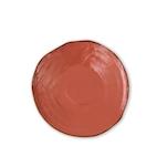 Piatto piano Mediterraneo in ceramica arancio cm 27,5