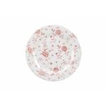 Piatto piano Vintage Rose Cranberry Churchill in porcellana rosa cm 30,5