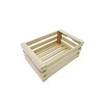 Mini cassetta a listelli in legno cm 25x13x7