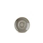 Piatto cappuccino Stonecast Churchill in ceramica vetrificata grigia cm 15,6