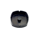 Posacenere impilabile in nylon nero cm 9,5X9,5X3,5