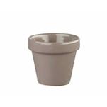 Vasetto Plant Pot Churchill in ceramica vetrificata grigia cl 48