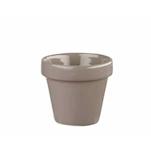 Vasetto Pebble Churchill in ceramica vetrificata grigia cl 34