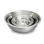 Bowl semisferica in acciaio inox cm 25x8,5