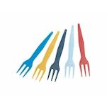 Forchettine in plastica di colori assortiti cm 8,5