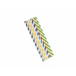 Cannucce a righe imbustate singolarmente in carta colori assortiti cm 20