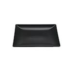 Piatto piano Ming II in stoneware nero cm 21x21x2