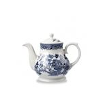 Teiera Vintage Churchill in ceramica vetrificata bianca decoro blu cl 85