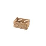 Cassetta in fibra di legno color naturale cm 11x7x5