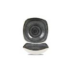 Piatto fondo quadrato Studio Prints Homespun in ceramica vetrificata nero cm 21