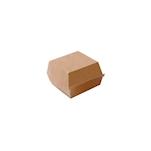 Contenitore per hamburger in cartone marrone cm 14x14x8