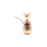 Bicchiere Pineapple con cannuccia in acciaio inox rame cl 45,5