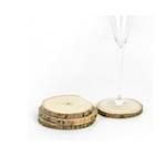 Sottobicchieri Wood in legno cm 10