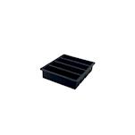 Stampo ghiaccio 4 rettangoli in silicone nero cm 13x3
