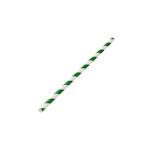 Cannucce a spirale in carta biodegradabile bianca e verde cm 20x0,6
