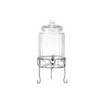 Dispenser drink con rubinetto e supporto in vetro lt 5,8