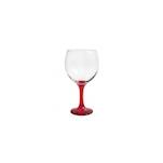 Calice cocktail Combinados in vetro trasparente e rosso cl 64,5