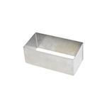 Stampo rettangolare in acciaio inox cm 10x5x4