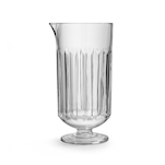 Mixing glass Flashback in vetro intagliato con piede cl 75
