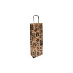 Borsa Bacchus per bottiglie in carta decorata cm 14x8x40