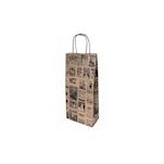 Borsa Bacchus per bottiglie in carta decorata cm 18x10x39