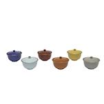 Formaggera Mediterraneo in ceramica colorata cm 7x12,5
