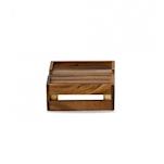 Alzata rettangolare Churchill in legno d'acacia naturale cm 25,8x22,2x9,4