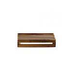 Alzata rettangolare Churchill in legno d'acacia naturale cm 44,5x25,8x9,4