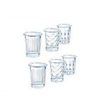 Bicchiere shot New York Arcoroc in vetro decori assortiti cl 3,4