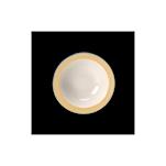 Bowl Performance Rio Steelite in ceramica vetrificata bianca con fascia gialla cm 16,5