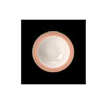 Bowl Performance Rio Steelite in ceramica vetrificata bianca con fascia rosa cm 16,5