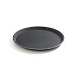 Vassoio tondo antiscivolo rinforzato con fibra di vetro nero cm 40