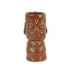 Tiki mug Molocai in ceramica marrone cl 36