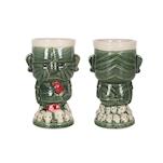 Tiki mug Lucky in porcellana verde cl 38