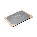 Tagliere Giusto per pinsa e pizza in acciaio inox e legno cm 38x33