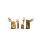 Marcatore per ghiaccio e alimenti personalizzabile in bronzo e manico in legno cm 15